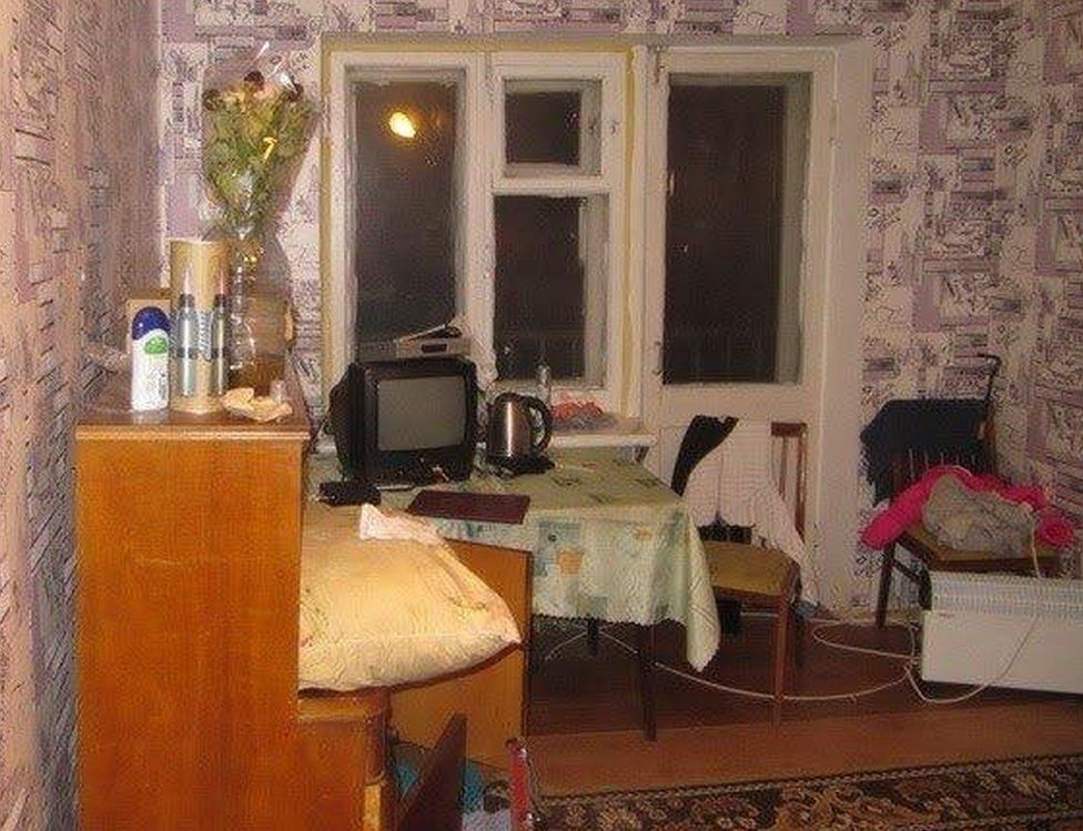 Kiev flat of Vladislava Podchapko (pic: Mykola Kuleba on Facebook)