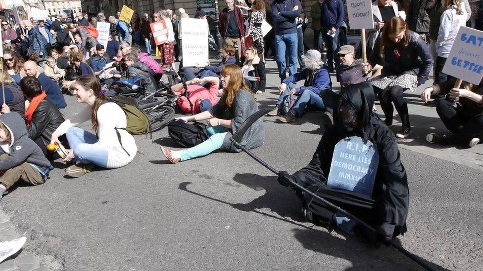 Protest in Bath
