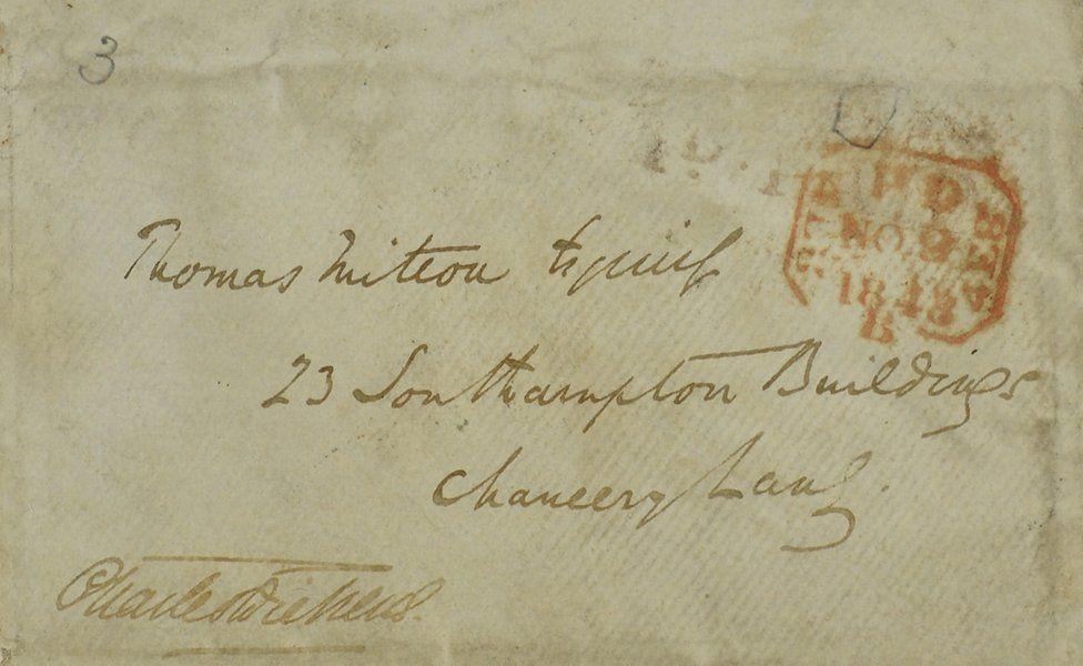 Charles Dickens envelope