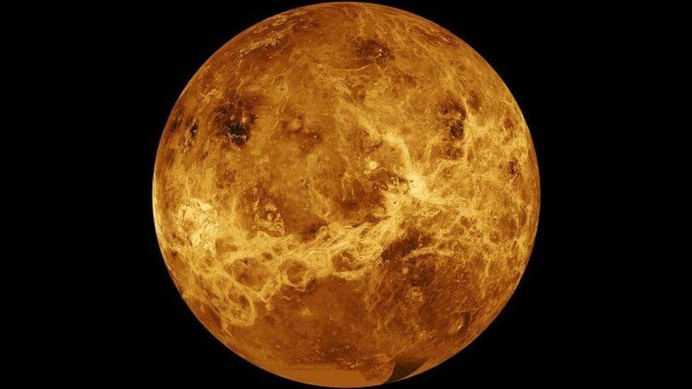 A composite image of the planet Venus