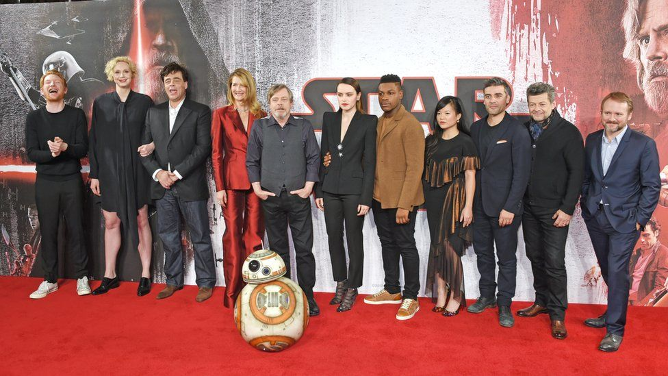 Star Wars cast at film premiere