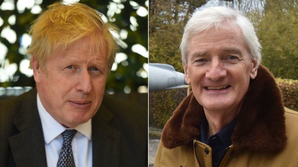 Prime Minister Boris Johnson and businessman Sir James Dyson