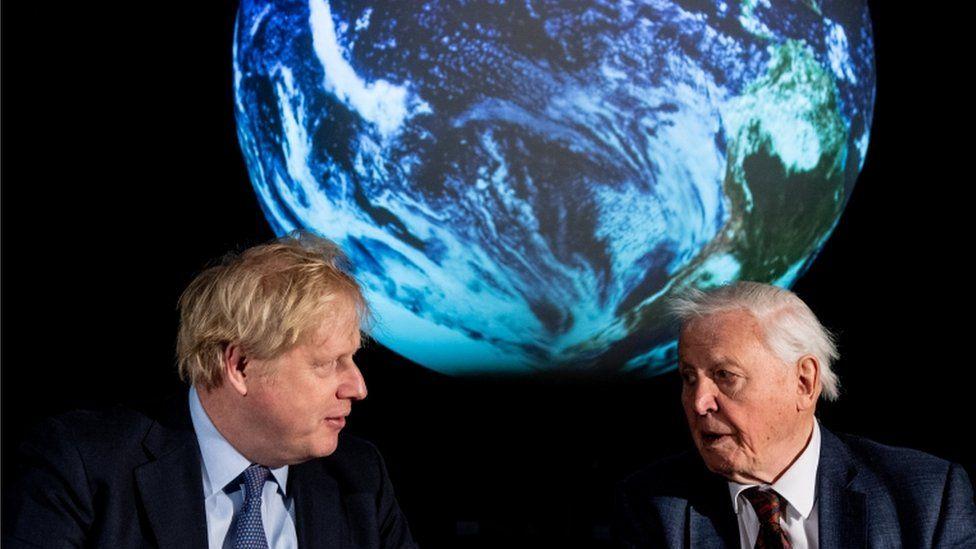 Boris Johnson and Sir David Attenborough