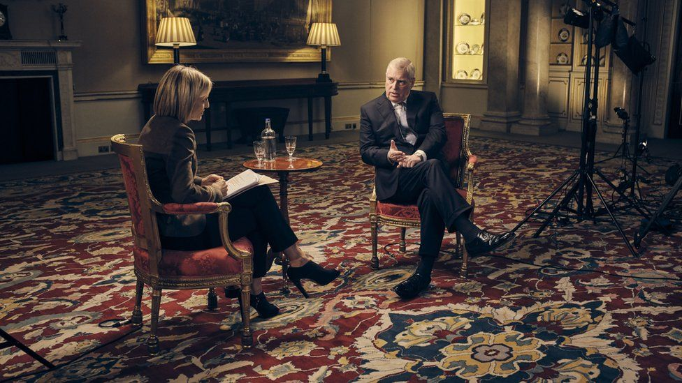 """The Duke of York , speaking for the first time about his links to Jeffrey Epstein in an interview with BBC Newsnight""""s Emily Maitlis"""