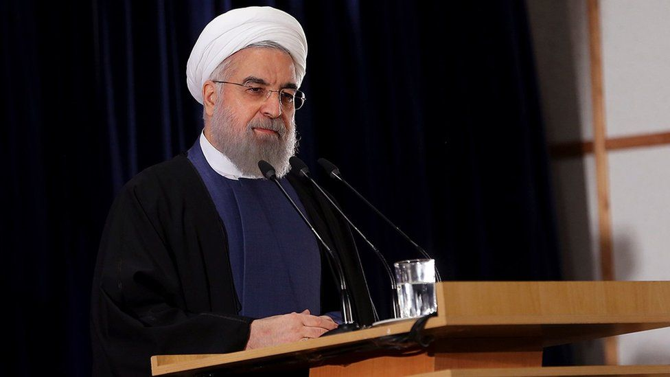 Hassan Rouhani delivers a speech to provincial governors in Tehran on 21 January 2016