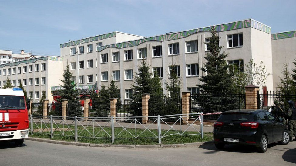 School No 175 in Kazan where the attack happened, 11 May 21