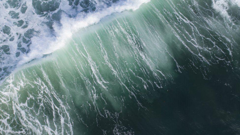 Aerial image of sea