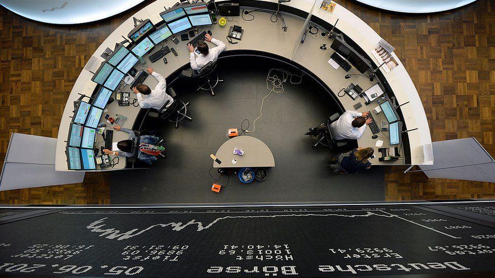 Deutsche Boerse trading floor