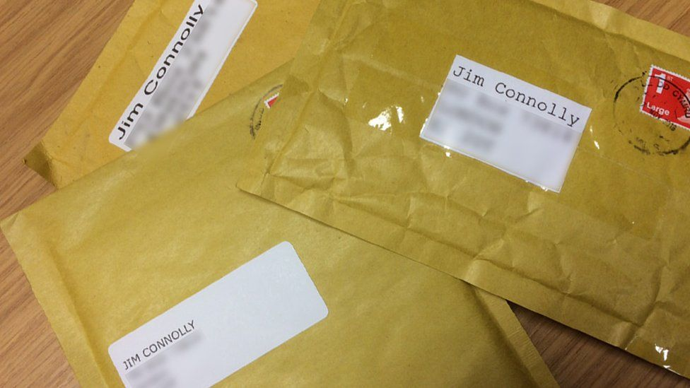 Packages sent from dark web suppliers