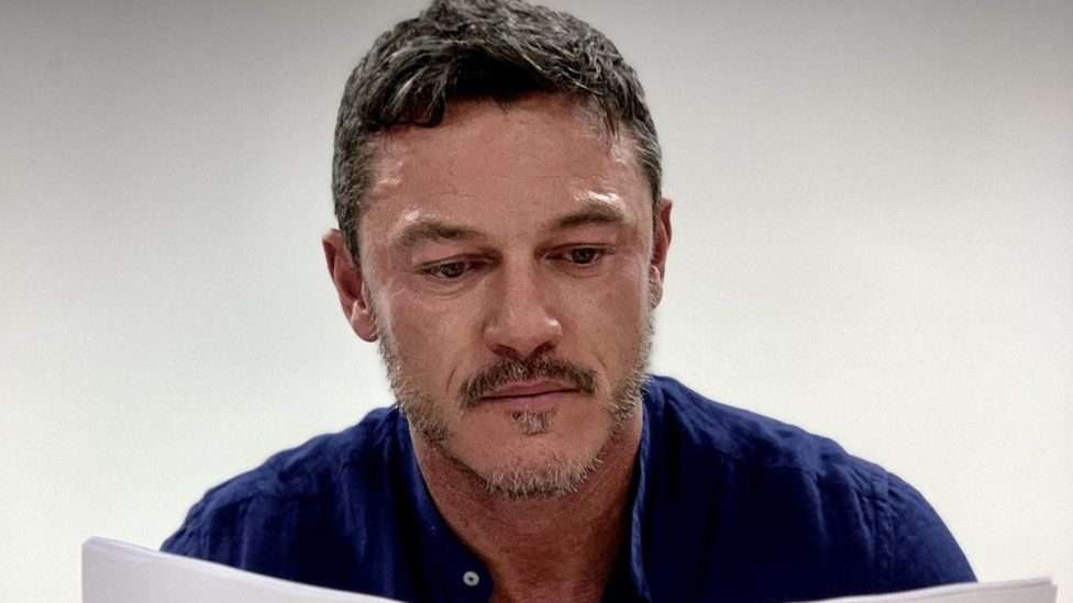 Luke Evans in a read through of The Pembrokeshire Murders