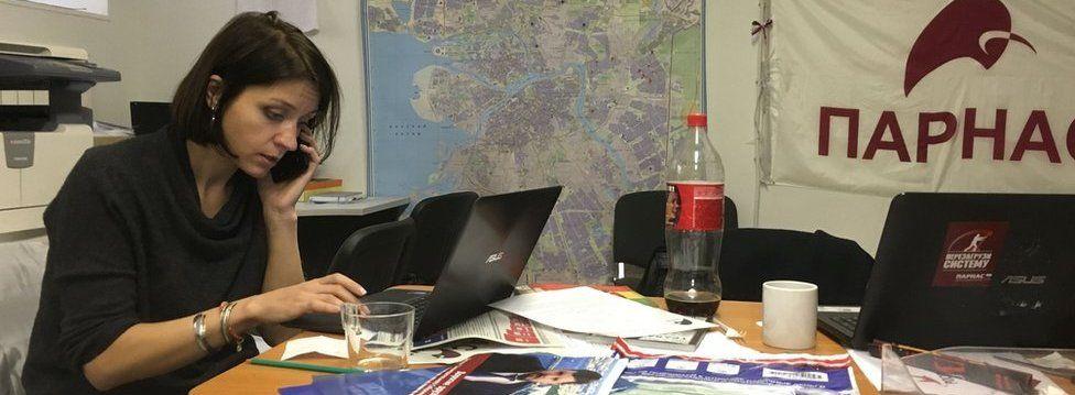 Natalia Gryaznevich in her office