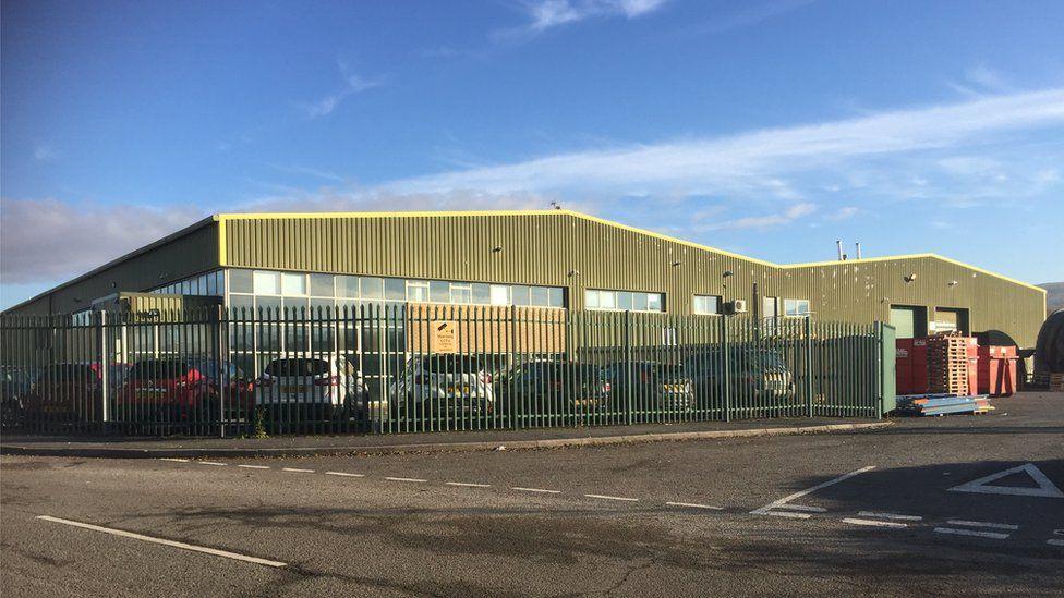 Pullmaflex factory in Ammanford