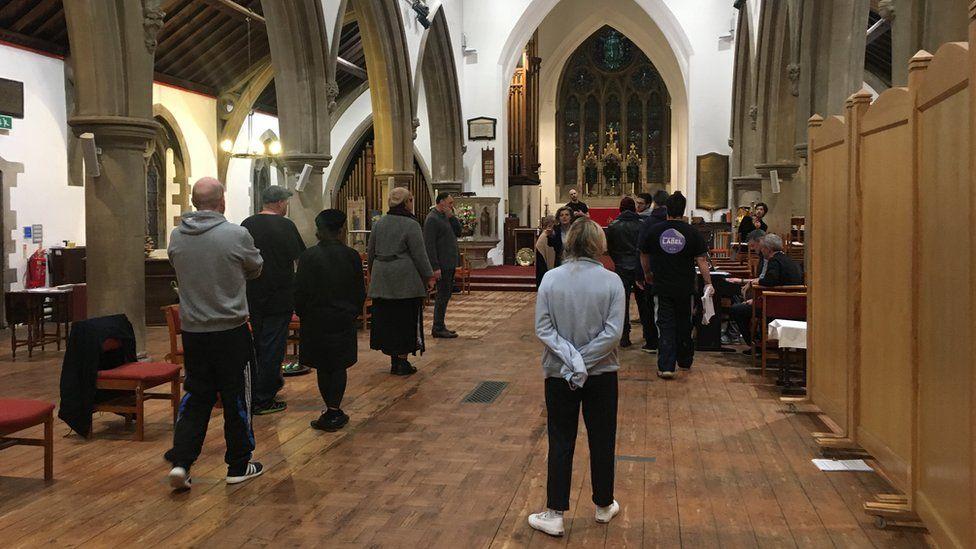 Drama rehearsal at St John's