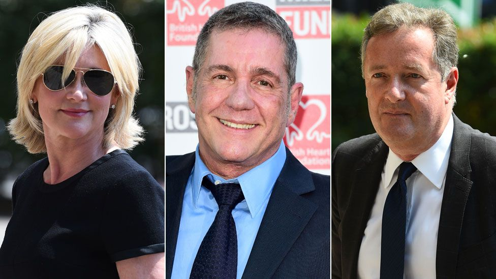 Anthea Turner, Dale Winton and Piers Morgan