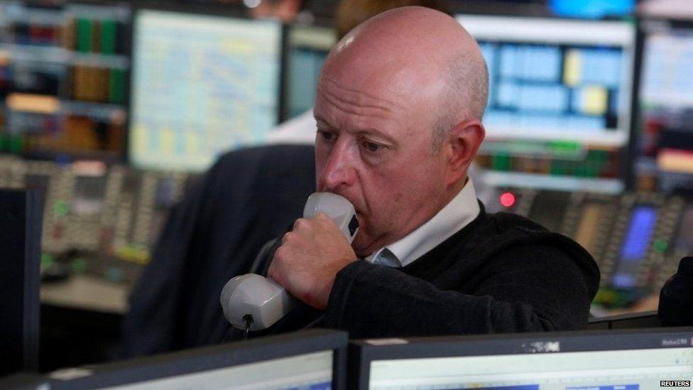 Stock market trader in London
