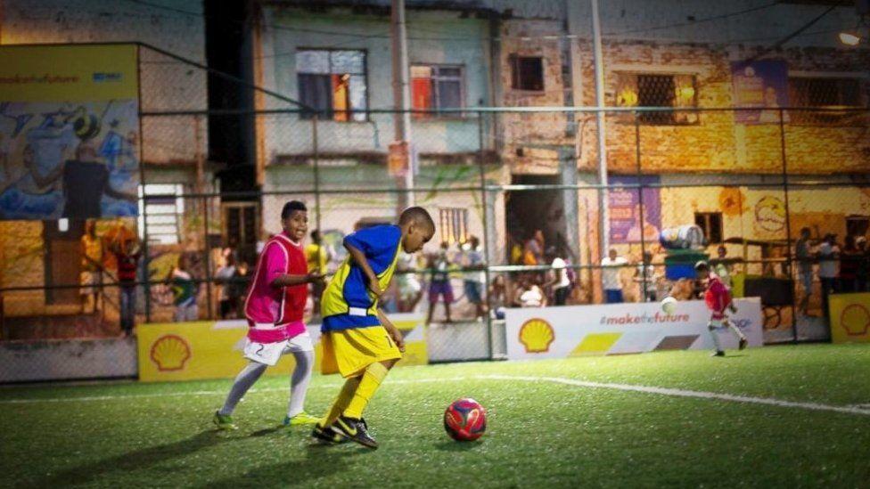 Children playing on PaveGen pitch