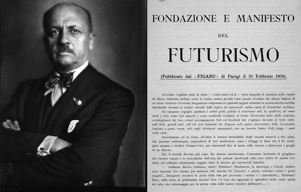 Although Filippo Tommaso Marinetti's Futurist Manifesto was also published in 1909, he celebrated machinery -- unlike Forster