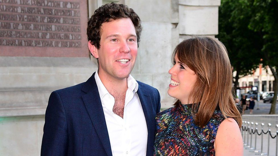 Jack Brooksbank and Princess Eugenie in June 2017