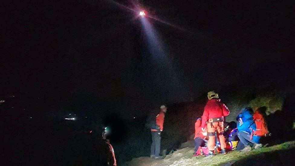Lomond MRT on one of its three call-outs over the weekend