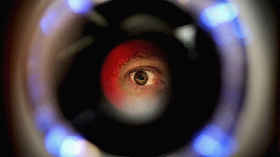 An iris recognition scanner