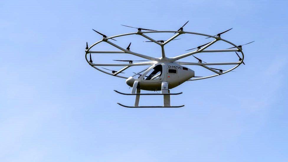 Volocopter flying in Stuttgart