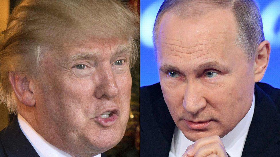 Composite picture of Donald Trump and Vladimir Putin