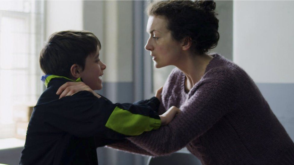 Ely Solan as Jon Venables and Tara Breathnach as his mum Susan