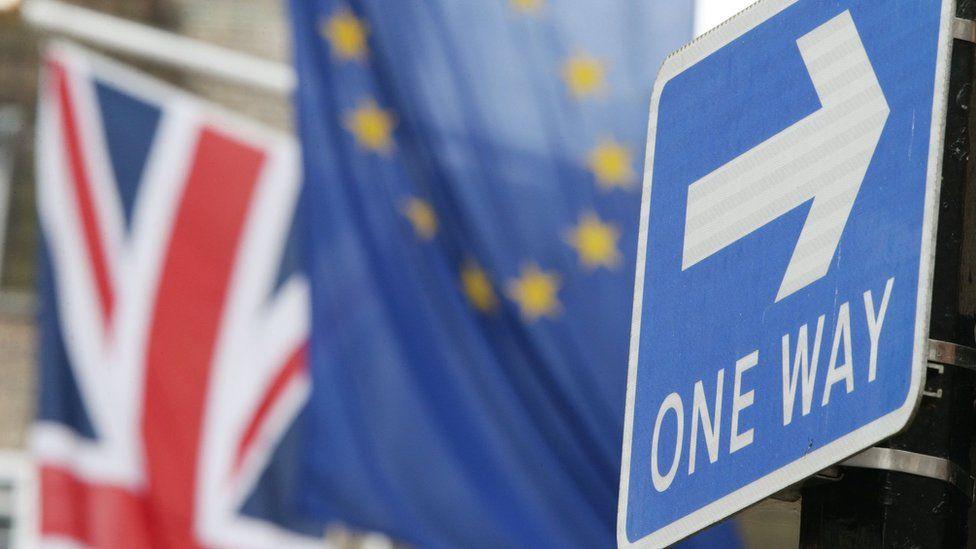 Union Jack and European Union flag