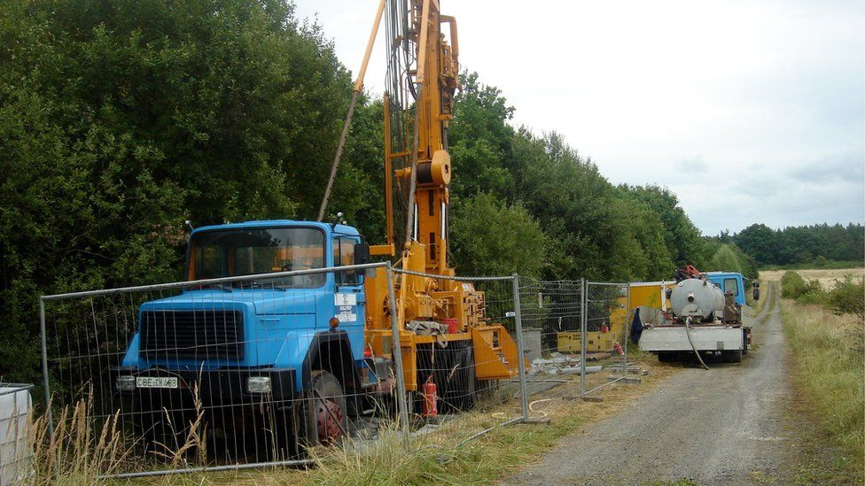 Drilling for rock