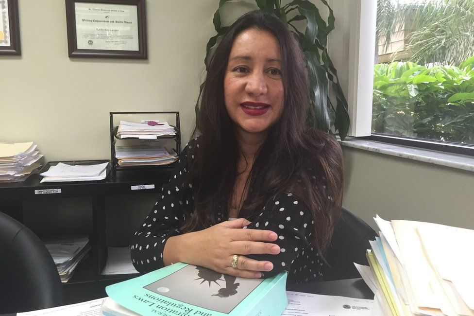 Immigration lawyer Kathy Riaño-Lopez represents mostly Venezuelans that are fleeing political and economic turmoil