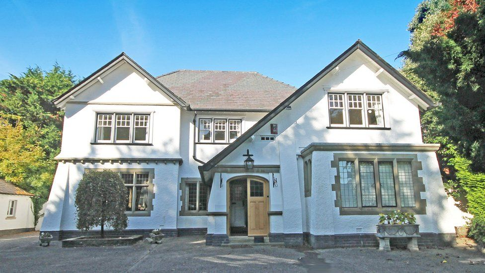 Estate agents describe the home as an 'exquisite residence'