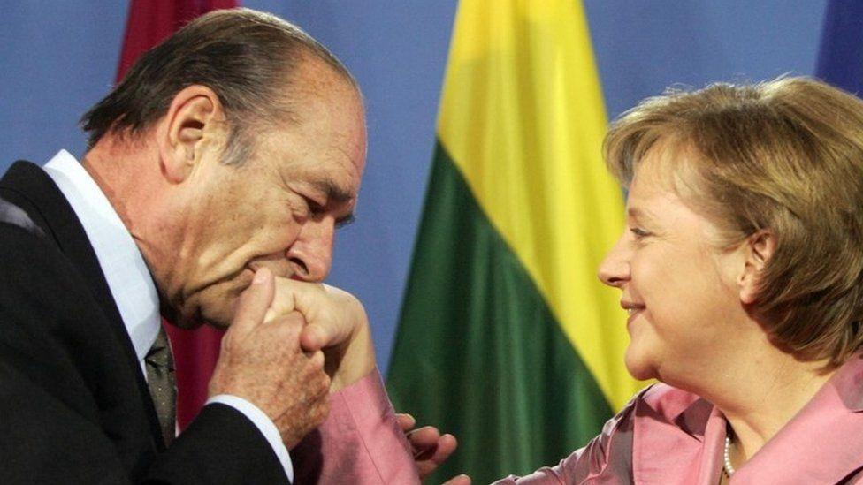 Chirac and Angela Merkel