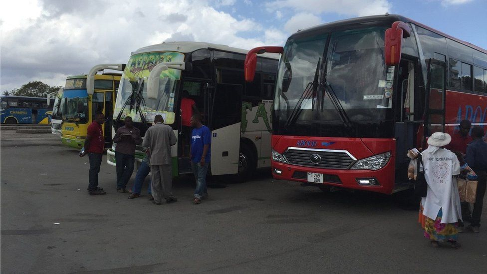 Bus drivers in Dar es Salaam