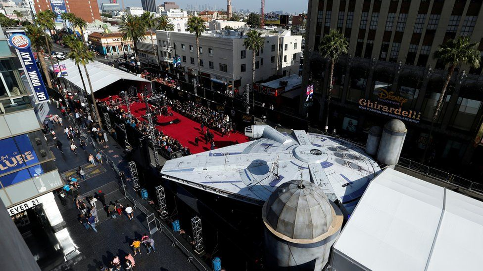 The Millennium Falcon on the red carpet