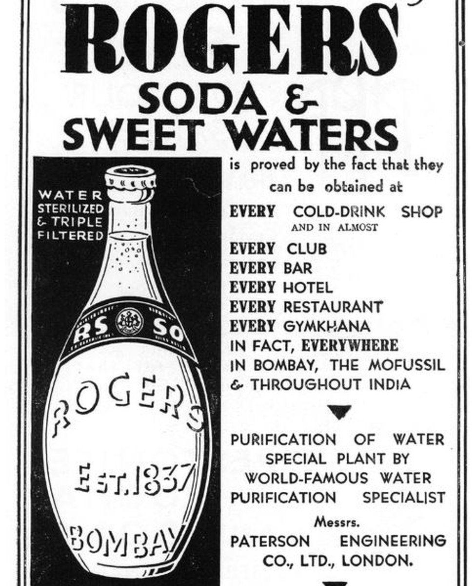Print advert for Rogers soda
