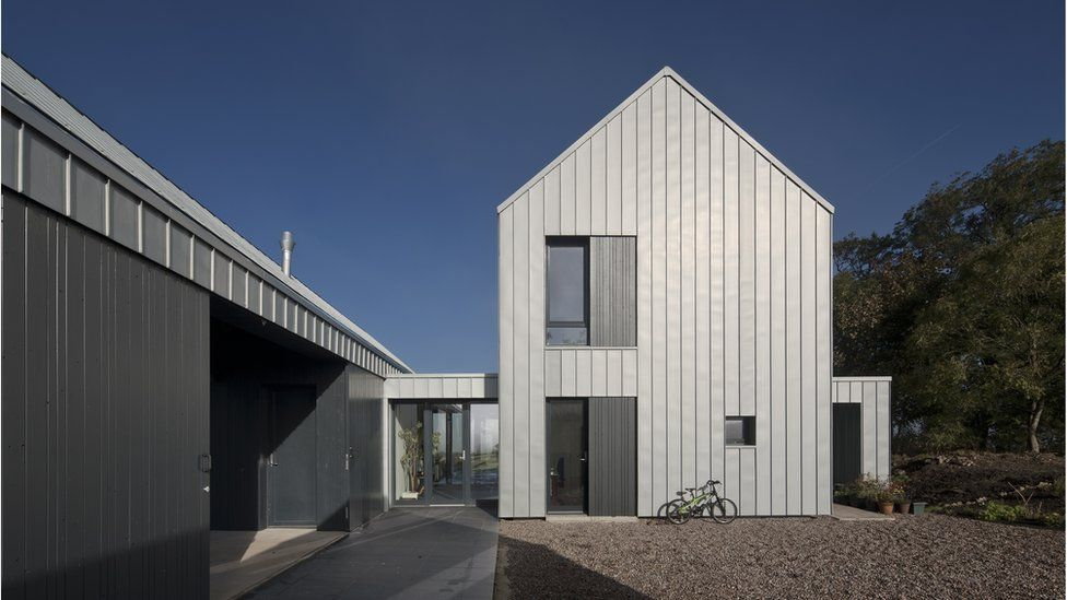 """Newhouse of Auchengree, North Ayrshire - """"a contemporary farmhouse that reflects the special architectural identity of the area"""""""