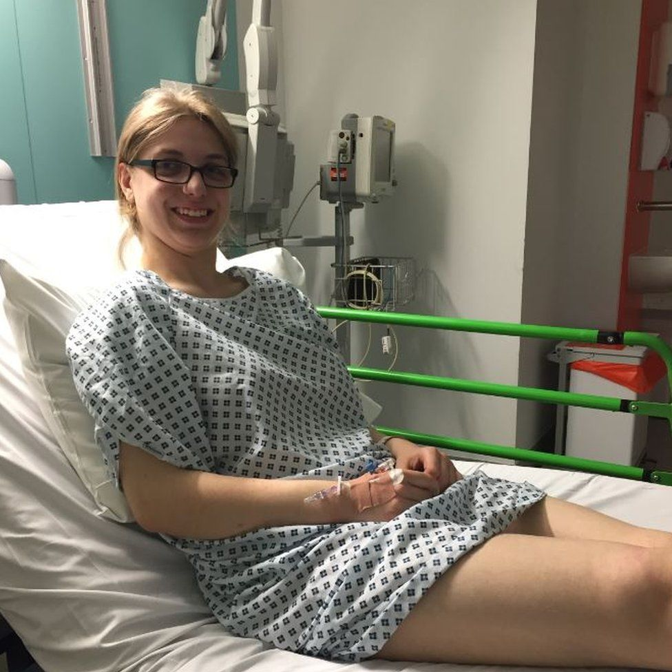 Lucy Pearson at her last admission to Great Ormond Street Hospital