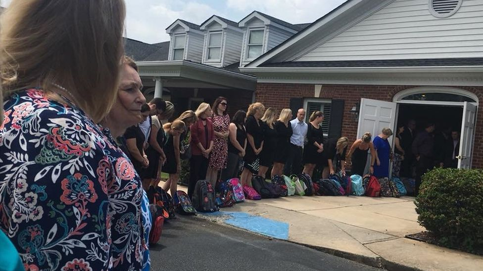 Teacher's final wish granted with backpacks
