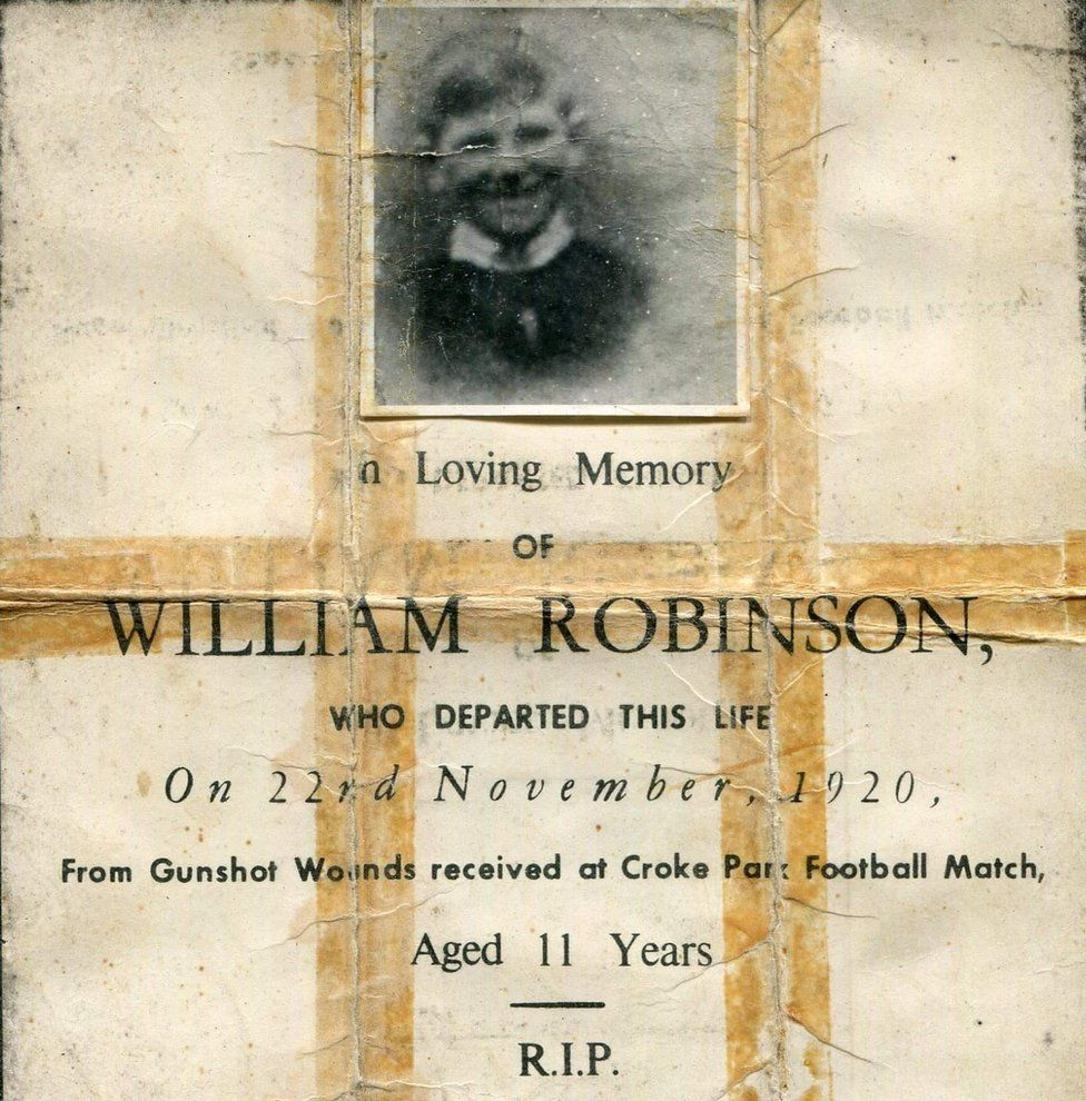 William Robinson's memorial card
