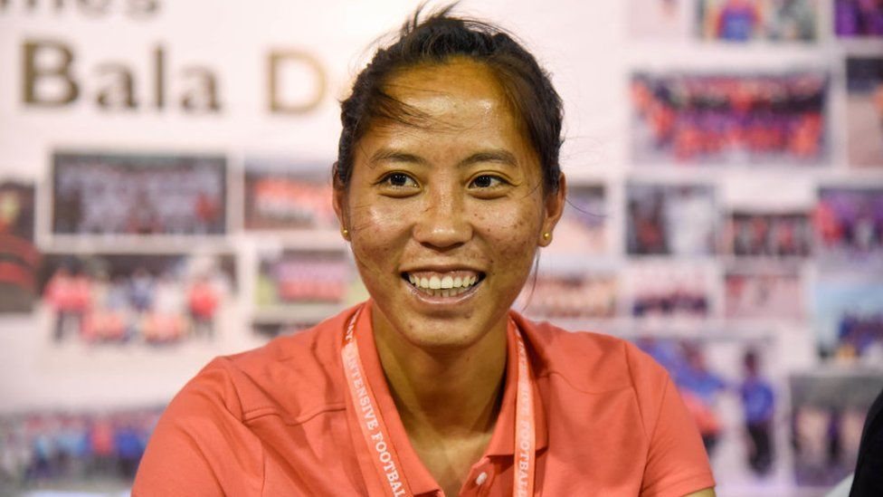 Ngangom Bala Devi, the flag bearer of womens football in the country, and the former captain of the Indian national team.