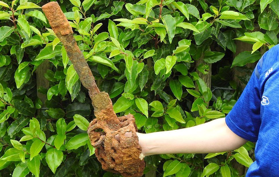 Basket hilt swords are so named because of the basket-shaped structure around the handle