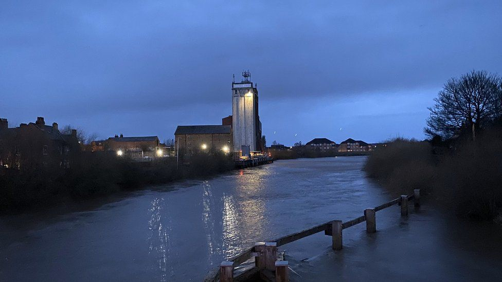 The view from the old Toll Bridge in Selby