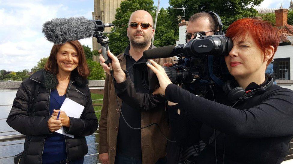 French film crew in Boston