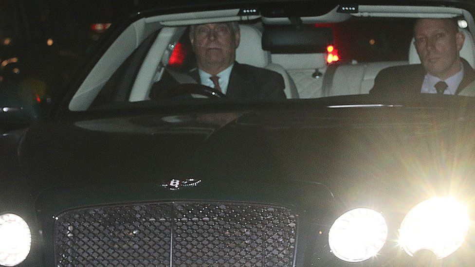Prince Andrew leaving Buckingham Palace