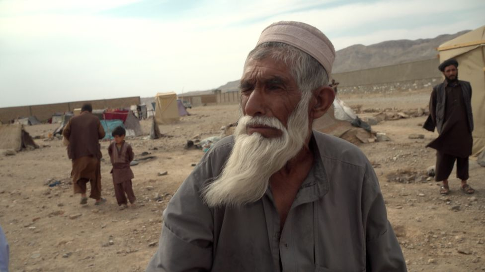 Shadi Mohammed, one of the inhabitants of a makeshift refugee camp in Herat