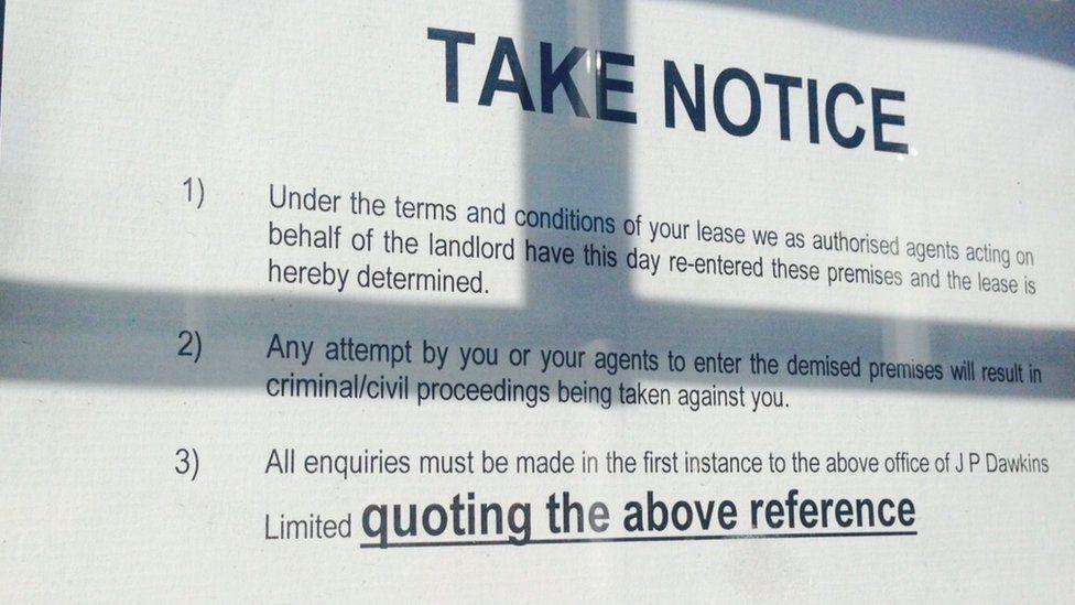 Bailiffs notice