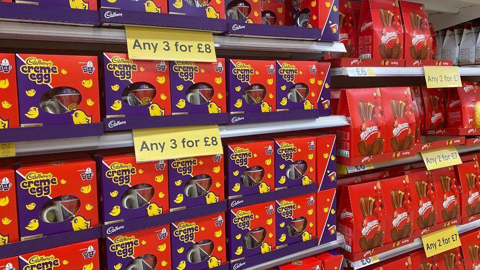 Coronavirus: Easter egg shoppers go online - BBC News