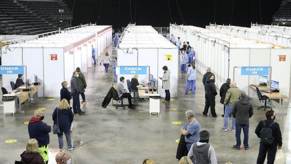 SSE Arena vaccination centre