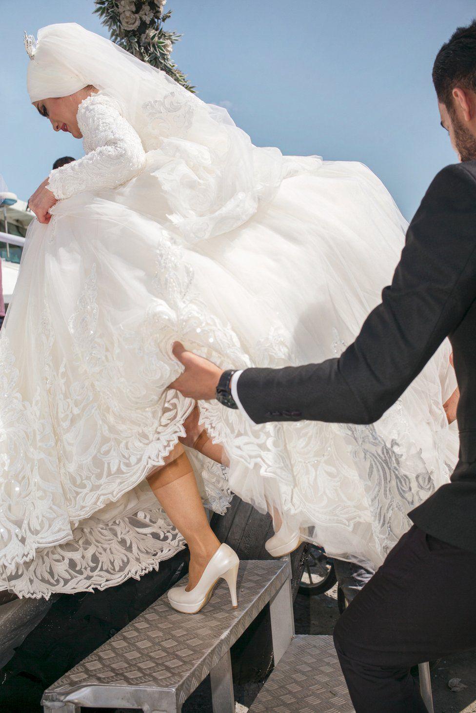 Bosphorus boat wedding party