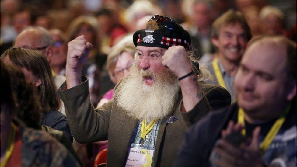 Audience members, SNP conference